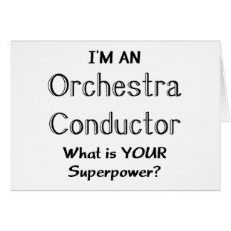 Cartão Condutor de orquestra