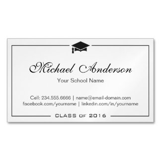 Cartão conhecido da graduação preto e branco limpa