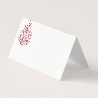 Cartão conhecido do lugar da festa de Natal