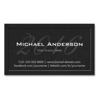 Cartão conhecido gravado elegante da graduação da