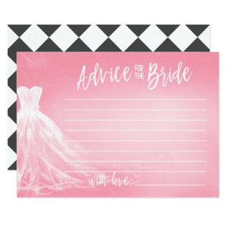 Cartão Conselho cor-de-rosa do vestido de casamento  