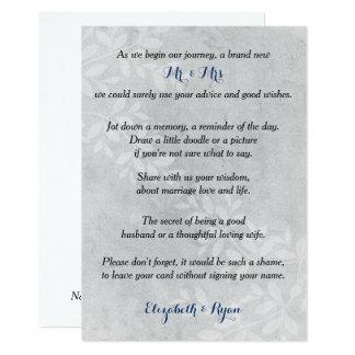 Cartão Conselho do casamento, memórias, cinzas florais