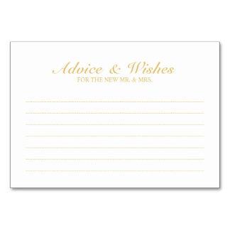 Cartão Conselho elegante e desejos do casamento do branco