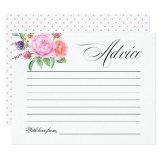 Cartão Conselho floral do casamento do chá de panela de