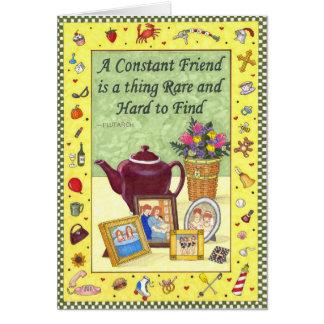 Cartão constante da amizade da amizade