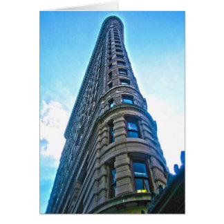 Cartão - construção de Flatiron Nova Iorque