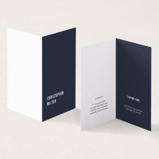 Cartão Consultante branco azul mínimo moderno