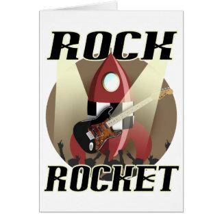 Cartão cópia do foguete da rocha