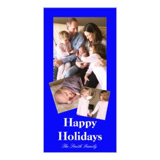 Cartão Cor B21 azul brilhante Bouncy customizável