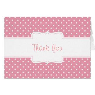 Cartão cor-de-rosa & branco do costume das