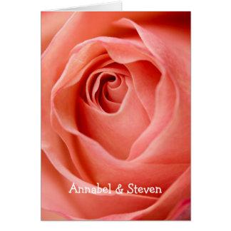 Cartão cor-de-rosa da noiva & do noivo