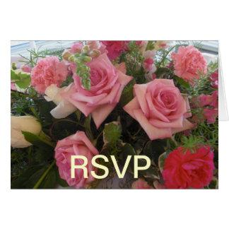 Cartão cor-de-rosa de RSVP