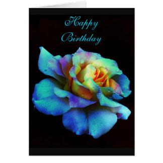Cartão cor-de-rosa do arco-íris de turquesa do