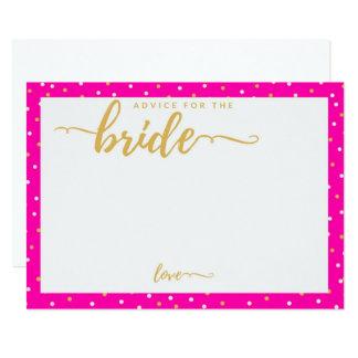 Cartão cor-de-rosa do conselho das bolinhas para convite 12.7 x 17.78cm