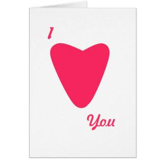 Cartão cor-de-rosa do coração do dia dos namorados