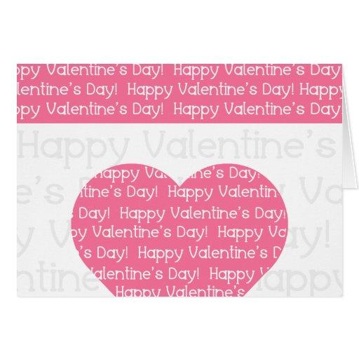 Cartão cor-de-rosa do coração do feliz dia dos nam