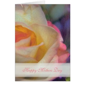 Cartão cor-de-rosa do feliz dia das mães