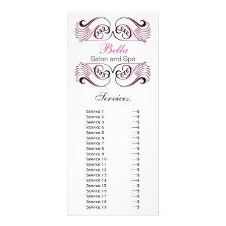 cartão cor-de-rosa, preto e branco chique da planfeto informativo colorido