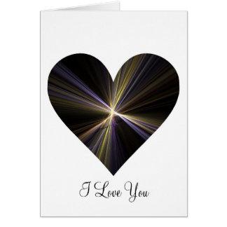 Cartão Coração de Starburst