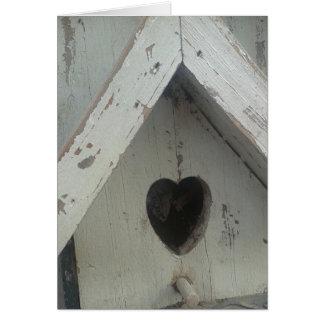 Cartão Coração do Birdhouse
