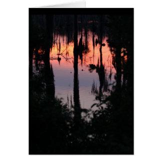 Cartão Coração Notecards do pântano