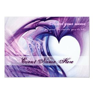 Cartão Coração roxo do Grunge