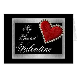 Cartão Coração vermelho do amor dos namorados romântico
