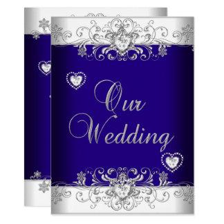 Cartão Corações 2a do diamante da prata do casamento dos