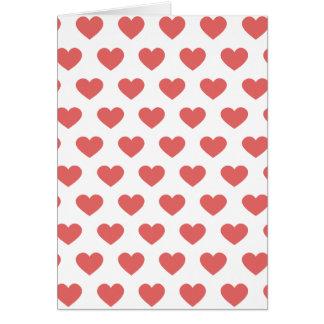 Cartão Corações cor-de-rosa escuros das bolinhas