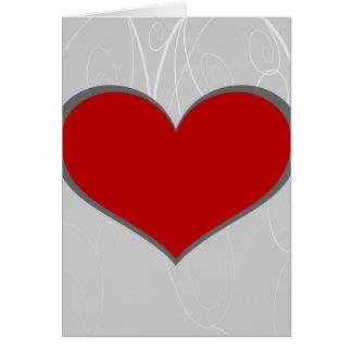 Cartão Corações em redemoinhos
