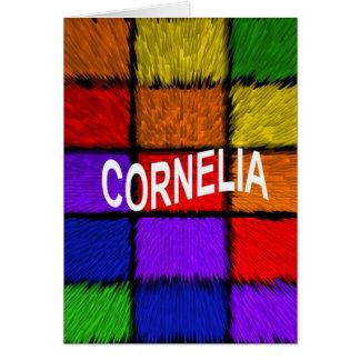 CARTÃO CORNELIA