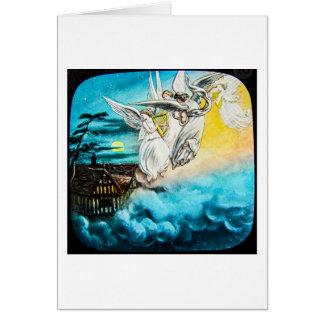 Cartão Corrediça de lanterna mágica de vidro do VICTORIAN