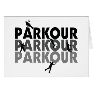 Cartão Corredor livre de Parkour