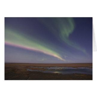Cartão Cortinas da aurora boreal colorida