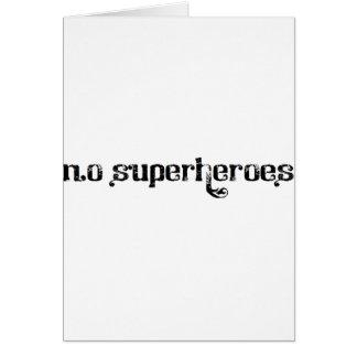 Cartão Corvo do albino - 'nenhuns super-herói