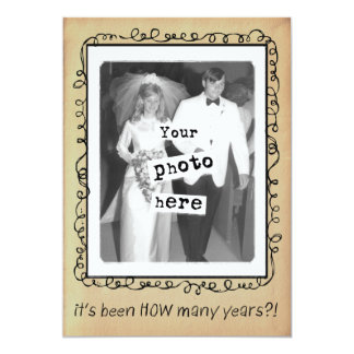 Cartão Costume da festa de aniversário do casamento