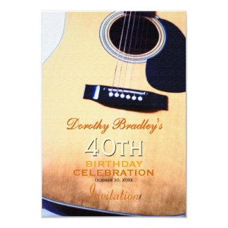 Cartão Costume popular da celebração do aniversário de 40