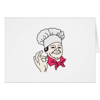Cartão Cozinheiro chefe