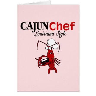 Cartão Cozinheiro chefe de Cajun
