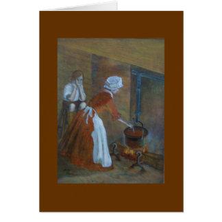 Cartão Cozinheiro colonial