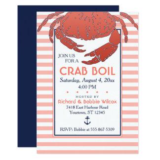 Cartão Crab o marinho da fervura  /convite feito sob