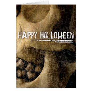 Cartão crânio do Dia das Bruxas