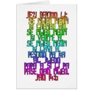 Cartão Creole haitiano do 14:6 de John