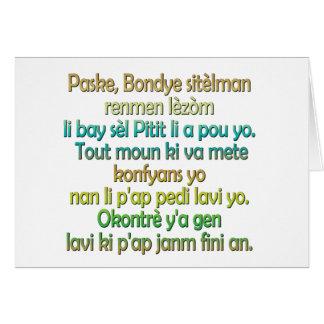 Cartão Creole haitiano do 3:16 de John