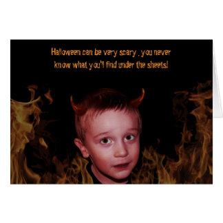 Cartão Criança pequena do diabo