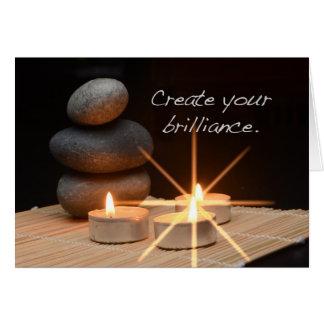 Cartão Criar sua luminosidade