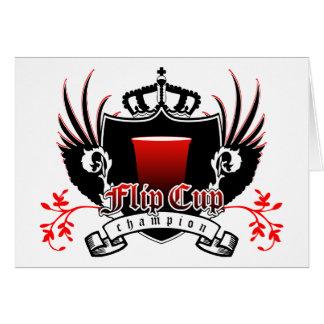 Cartão crista real do campeão do copo do sacudir
