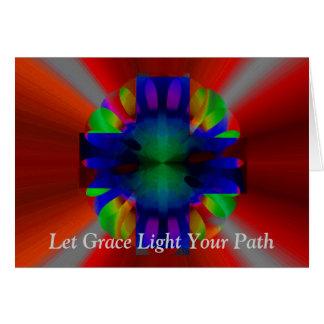 Cartão Cruz da luminosidade
