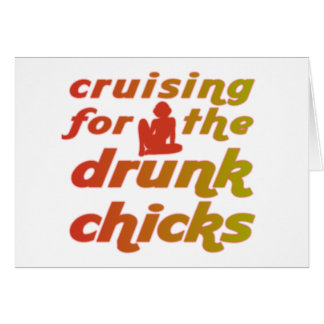 Cartão Cruzamento para os pintinhos bêbedos