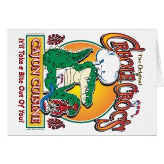 Cartão Culinária de Cajun Crocs Ceole